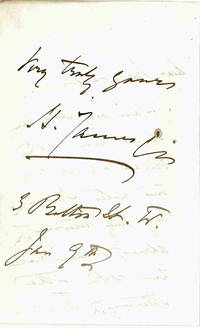 AUTOGRAPH LETTER, SIGNED, TO MRS. LANG
