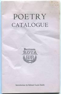 Bertram Rota, Ltd. Catalogue No. 155, Spring 1968: Poetry Catalgue