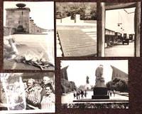 Antifascist memorials in the GDR [five press photographs]