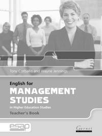 English for Management in Higher Education Studies: Teacher's Book (English for Specific...