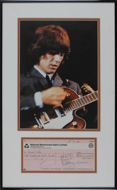 George Harrison Signed Check Nicely...