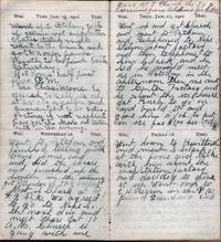 image of 1901 HANDWRITTEN DIARY KEPT BY THIS NEW YORK STATE DAIRYMAN, RESIDING IN POTSDAM, SAINT LAWRENCE COUNTY, NY