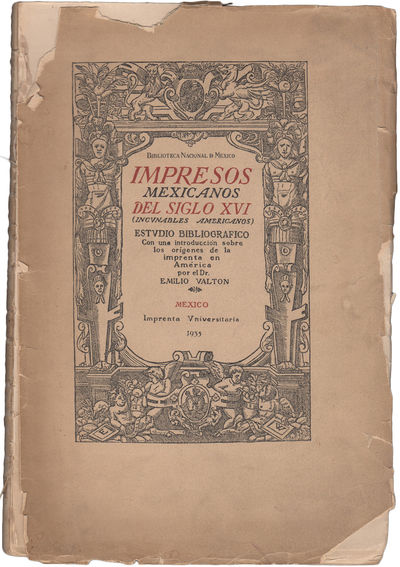México: Imprenta Universitaria, 1935. First edition. Paper wrappers. A good copy. wrappers detached...