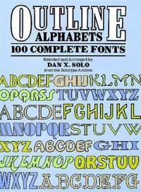 Outline Alphabets : 100 Complete Fonts