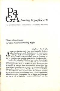 Observations Abroad By Three American Printing Types