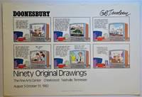 Doonesbury; Ninety Original Drawings: Exhibition Poster