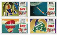 Set of Four Bond Bread Blotters Featuring Jet Age Technology