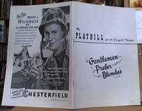 image of The Playbill for The Ziegfeld Theatre; Gentlemen Prefer Blondes