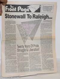 image of The Front Page: Stonewall to Raleigh: special Gay Pride March supplement