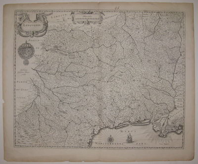 Amsterdam. unbound. very good. Map. Uncolored engraving. Image measures 17 3/8