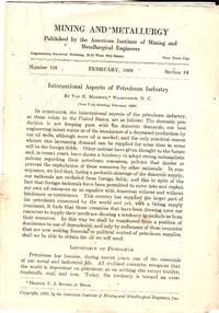 Two parts of February 1920 Mining and Metallurgy Serial Newsletter