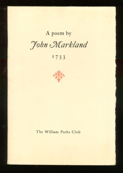 VA: Williams Parks Club, 1965. Softcover. Fine. Fine in wrappers. One of 250 copies.