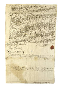 "Manuscript deed of sale (November 14, 1685) of Nashowamoiasuk, now Neck Point of the Edgartown Great Pond, by ""Mr. Harrie, Indian of Nantucket"" to John Coffin for six pounds. With addendum (dated August 20, 1693) on verso, in which ""Mr. Jacob Washman"" and ""Natuckquanum"" quit their claim to this land by (Nantucket) - Signed - 1685 - from James Cummins Bookseller and Biblio.com"