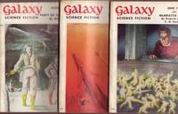"""Galaxy Science Fiction:  June, July, August 1954, - 3 issues containing all 3 Installments of """"Gladiator at Law"""" by Frederik Pohl & C. M. Kornbluth"""