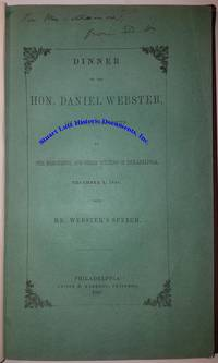 Daniel Webster Signs A Speech For A Philadelphia Dinner Honoring Him