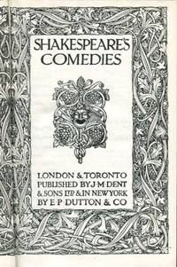 image of Shakespeare's Comedies