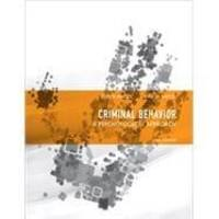 Criminal Behavior: A Psychosocial Approach (Prentice-Hall series in criminal justice)