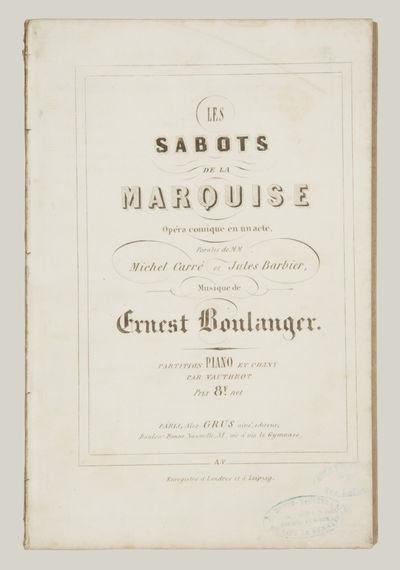 Paris: Alex. Grus ainé , 1854. Large octavo. Disbound. 1f. (recto title within double-ruled border,...