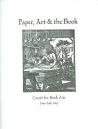 New York: Center for Book Arts, 1996. paperback pamphlet, hand sewn. Center for Book Arts. large 12m...