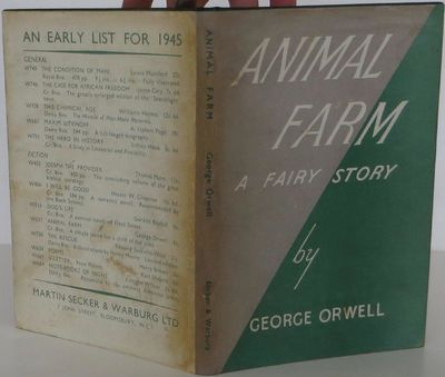 Secker & Warburg, 1945. 1st Edition. Hardcover. Near Fine/Very Good. Near fine first edition, date o...