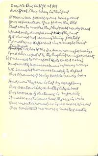 """Autograph Manuscript, Signed: """"Does No One but Me at All Ever Feel This Way in the Least?"""""""
