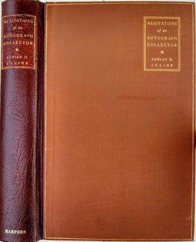 New York:: Harper & Brothers, 1902., 1902. 8vo. , 315, pp. Frontis., plates, index. Brown gilt-stamp...