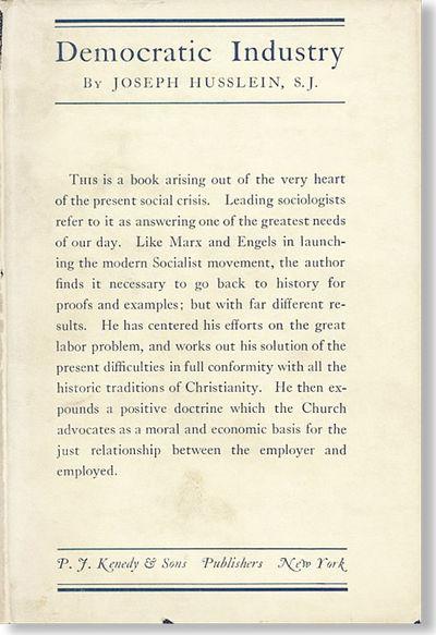 New York: P.J. Kenedy & Sons, 1920. Reprint of the first (1919) edition. Octavo (19cm.); original cl...