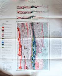 Large Fold-Out Geological Survey Map in Colour. Map 978a Gap West of Fifth Meridian Alberta