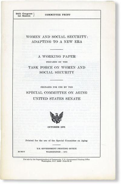 Washington DC: Government Printing Office, 1975. Octavo. Staple-bound self-wrappers; 87pp. Mild toni...