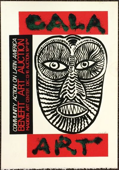 Madison: Community Action on Latin America, 1983. 15x21.25 inch screenprint poster, signed in pencil...