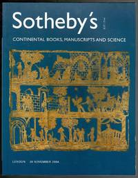 image of Continental Books, Manuscripts and Science 30 November 2004