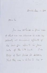 """Autograph Letter Signed (""""Rich. H. Dana Jr,"""" to Mr. C. D. Kellogg"""