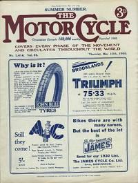Motor Cycling [Magazine] Summer Number. Volume 44. No. 1414. May 15, 1930