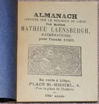 image of Almanach supputé sur le Méridien de Liège par Maître Mathieu Laensbergh, mathématicien, pour l'année 1920
