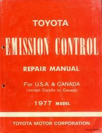 image of Toyota Emission Control Repair Manual for U.S.A. & Canada (except Corolla to Canada) 1977 Model