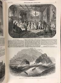 Illustrated London News, Two Bound Volumes (18 and 19) 1851  Complete--Including Both Large Views from the Great Exhibition, Backed  with Linen, Moby Dick Review