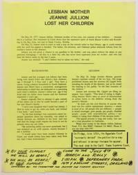 Lesbian mother Jeanne Jullion lost her children [handbill]