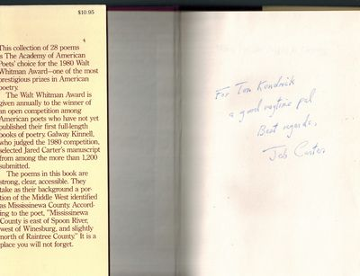 New York: Macmillan, 1981. SIGNED AND INSCRIBED BY AUTHOR on front end page -