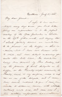 AUTOGRAPH LETTER SIGNED BY AMERICAN EDUCATOR AND CLERGYMAN TIMOTHY DWIGHT V, THE FUTURE PRESIDENT OF YALE COLLEGE.