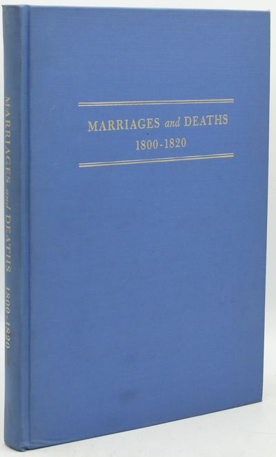 Washington, D.C.: National Genealogical Society, 1968. Hard Cover. Very Good binding. A clean tight ...