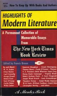 HIGHLIGHTS OF MODERN LITERATURE: A Permanent Collection of Memorable Essays from the New York...