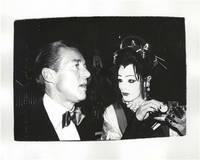 Andy Warhol Original Photograph of Halston and a Geisha Drag Queen at Studio 54