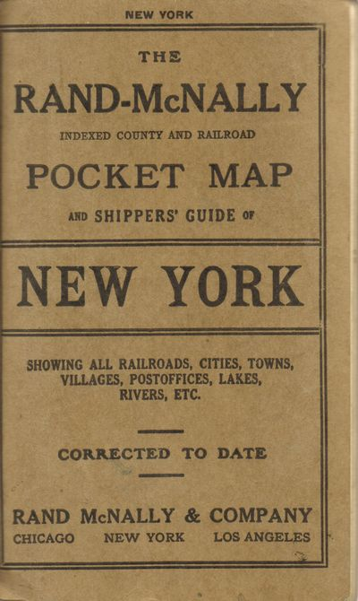 Chicago And New York: Rand McNally & Co.. Very Good with no dust jacket. 1914. These pocket maps are...