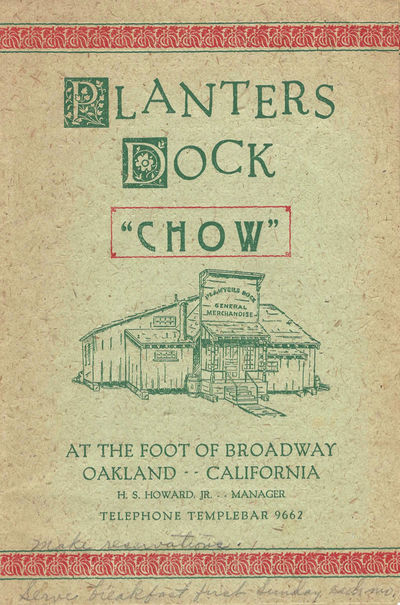 """Planters Dock """"Chow"""", at the Foot of..."""