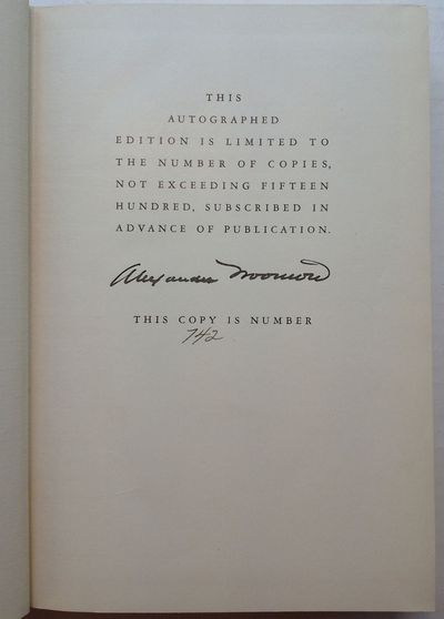 New York: Viking, 1937. Limited. hardcover. very good(+). 1,056 pages, top edge gilt, 8vo, full vell...