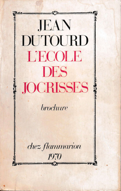 Paris: Flammarion, 1970. Paperback. Good. 220 pp. Light creases and tears to the spine, tanning and ...