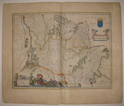 Amsterdam. unbound. very good. Map. Engraving with original hand outline. Image measures 15