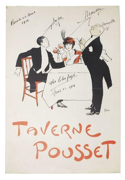 Paris: Devanbez Gr., Paris, 1914. 1st printing. Tan card stock self wrappers, printed in red and bla...