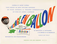 Stowaway in the Sky [Le voyage en ballon] (Original French premiere invitation for the 1960 film)