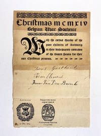 [WWI]. Christmas MCMXIV - Belgian Uvar (i.e. WAR) Souvenir (caption title). With the cordial...